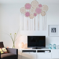 Promotion Diy Large Doily Lace Dream Catcher Set,Boho Dream Catcher,Wall Hanging,Bohemian Home Decor,Boho Bedroom Decor