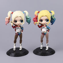 6.2Inches Q version Harley Quinn Jocker PVC Cartoon Action Figure Collectible Model Toy Art Craft Best Gift OPP D184(China)