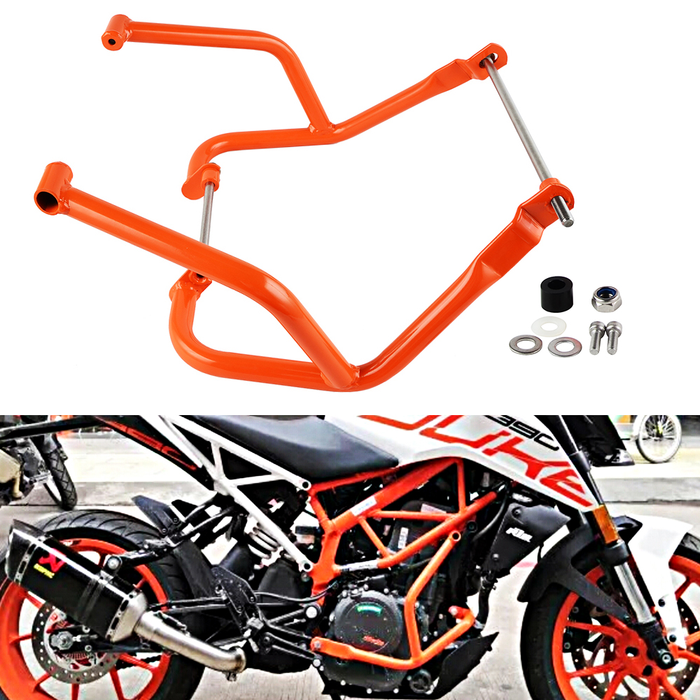 Motorcycle Engine Bumper Frame Guard Crash Bar Protector For KTM DUKE 250 390 2017 2018 4pcs propeller guard bumper blade crash protector for xiaomi mi drone quadcopter