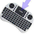 10 pcs i8-Nobacklit Custom Made Fly Air Mouse Mini Handheld Wireless Keyboard 2.4 GHz Touchpad Controle Remoto Para TV M8S CAIXA