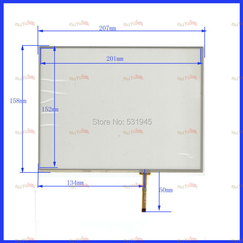 NEW 207mm*158mm Touch Screen 4 wire resistive USB touch panel 207*158 freeshipping this is compatible use TM097TGH01/TM097TFH01