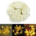 30 LED White Decorating Rose Battery Light and Light String