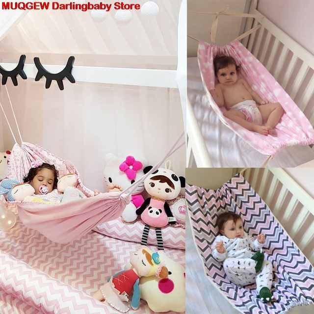 New Newborn Baby Infant Hammock Home Outdoor Detachable Portable  Comfortable Bed Kit Baby Furniture Baby Cribs
