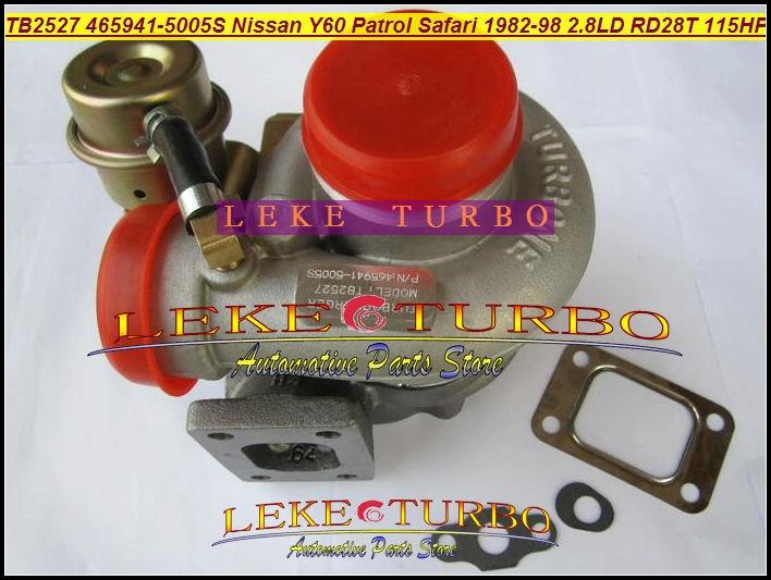 Turbo TB2527 465941 465941-0005 452022 14411-22J01 14411-22J00 14411-22J02 1441122J01 для NISSAN Patrol Y60 сафари RD28T 2.8L D