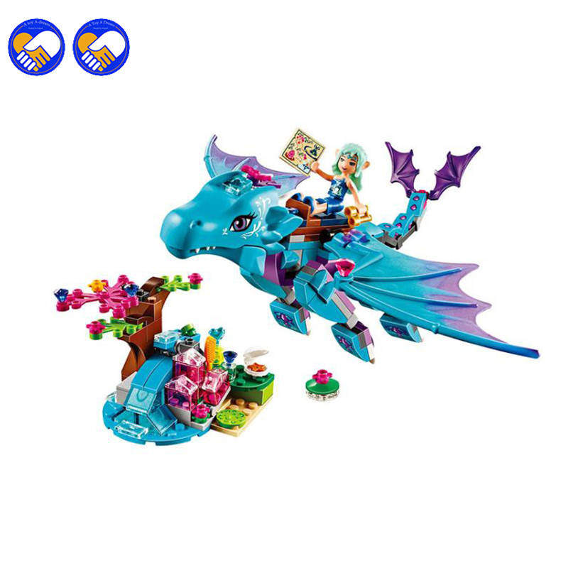 A toy A dream Bela 10500 Elves The Water Dragon Adventure Blocks Bricks Toys Compatible with Decool Lepin Sluban 41172 a toy a dream new decool 7124 genuine series marvel batman movie arkham asylum building blocks bricks toys with