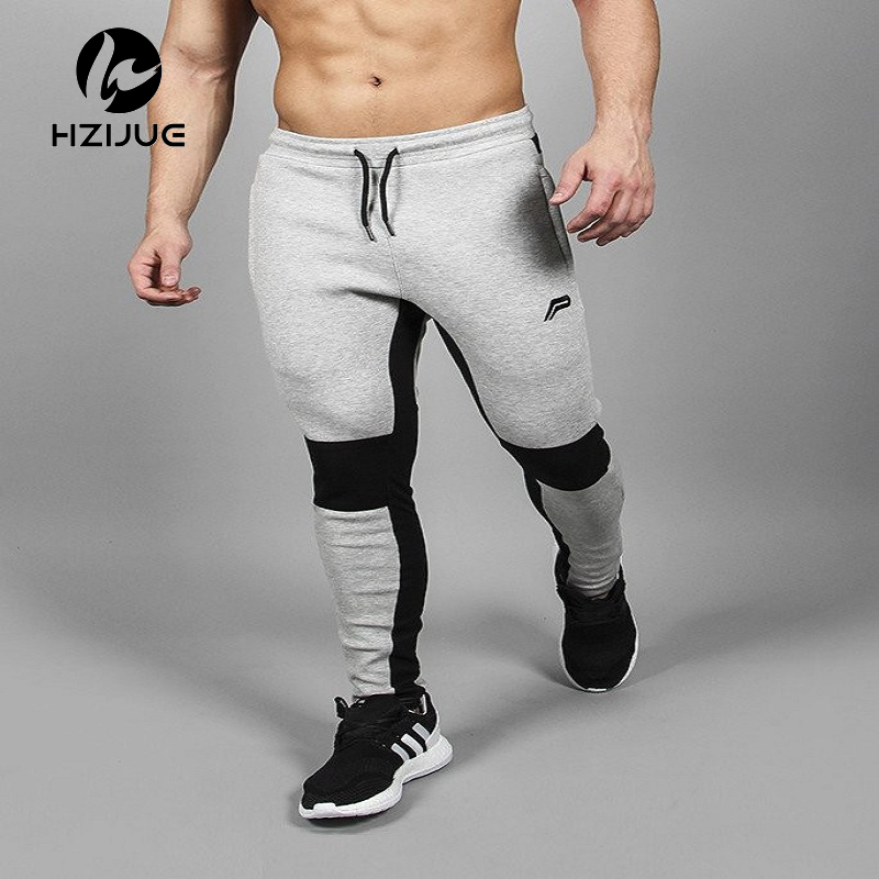 HZIJUE 2018 Mens Pants Joggers Compression Pants Casual Gyms Pants Men Tracksuits Clothing Male Trousers