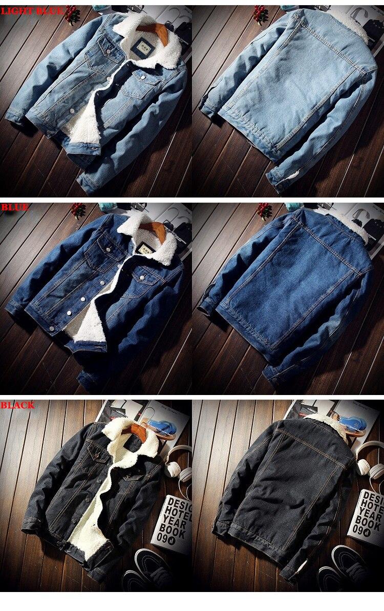 HTB1R5XuXiHrK1Rjy0Flq6AsaFXaK Men Jacket and Coat Trendy Warm Fleece Thick Denim Jacket 2019 Winter Fashion Mens Jean Jacket Outwear Male Cowboy Plus Size 6XL