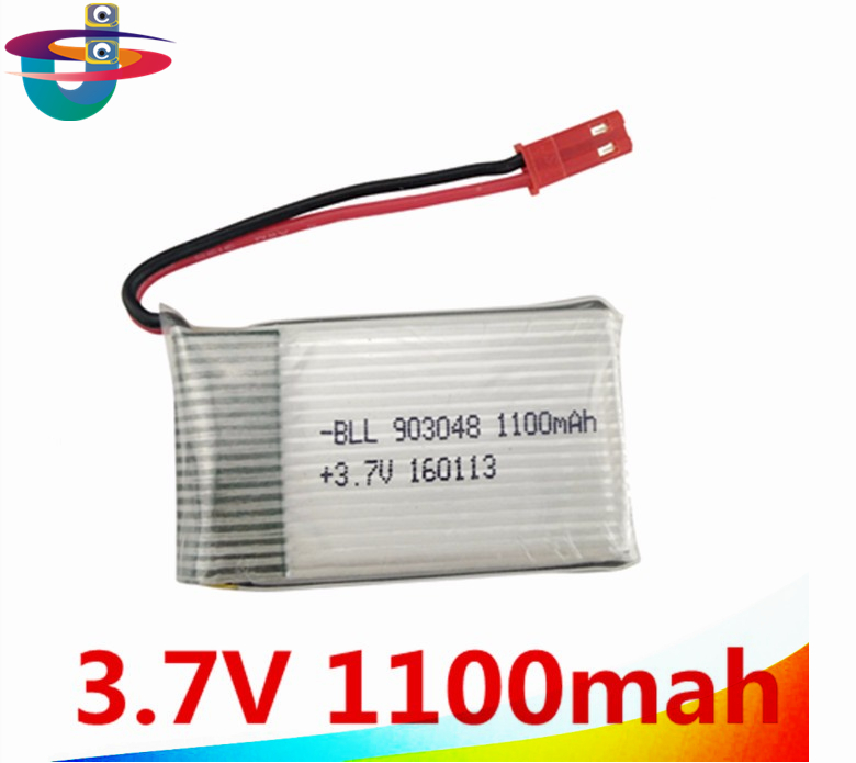 3.7V 1100mAh Lipo battery For JJRC H11D H11C Remote control helicopter 3.7 Lipo battery 903048 1100mah 15C JST plug