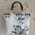 the new fashion features hand-painted folk style painting totes Chinese national wind women  handbags