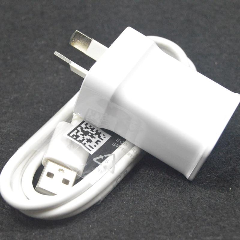 5 V 2A micro USB Sync Data kabel ponsel + Au plug Dinding Charger - Aksesori dan suku cadang ponsel - Foto 4