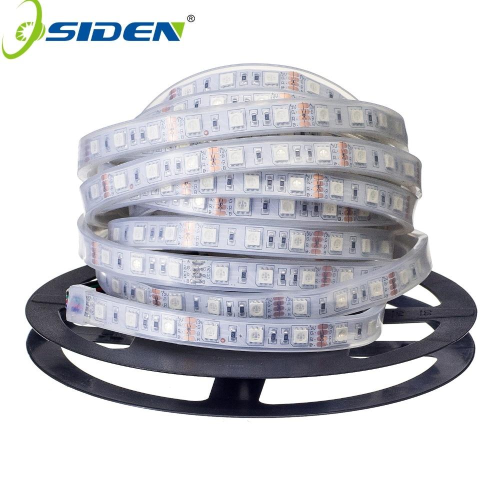 OSIDEN 100M Led Strip Light 5050 Silicon Tube Waterproof IP67 dc12V 300led 5m RGB White Warm