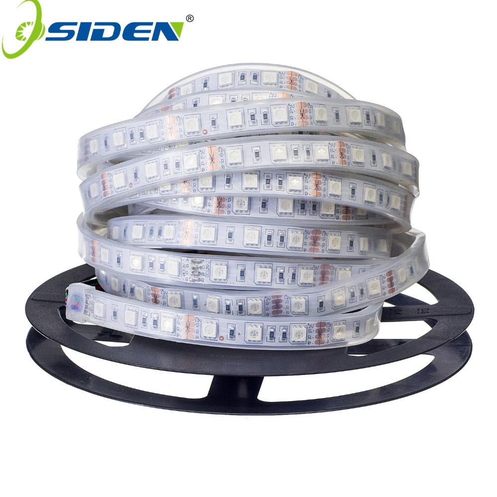 OSIDEN 100M Led Strip Light 5050 Silicon Tube Waterproof IP67 dc12V 300led 5m RGB White Warm White LED tape Fexible 5M/Reel
