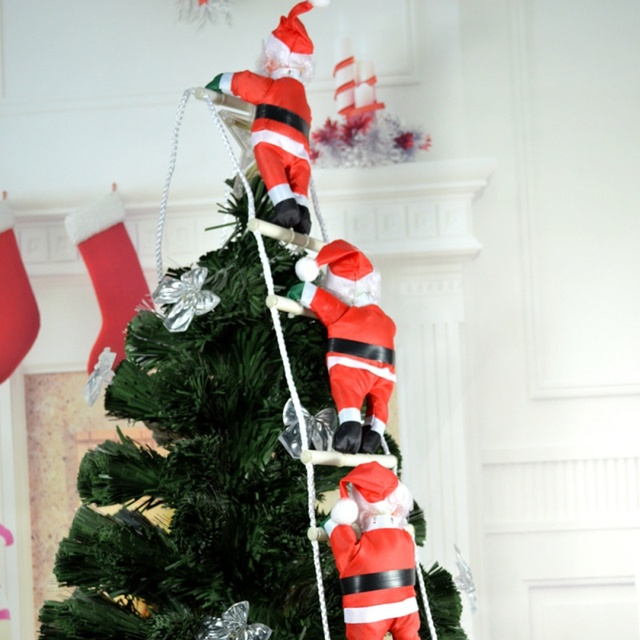 ladder christmas santa claus doll christmas tree new year decorations drop ornaments christmas home party decoration