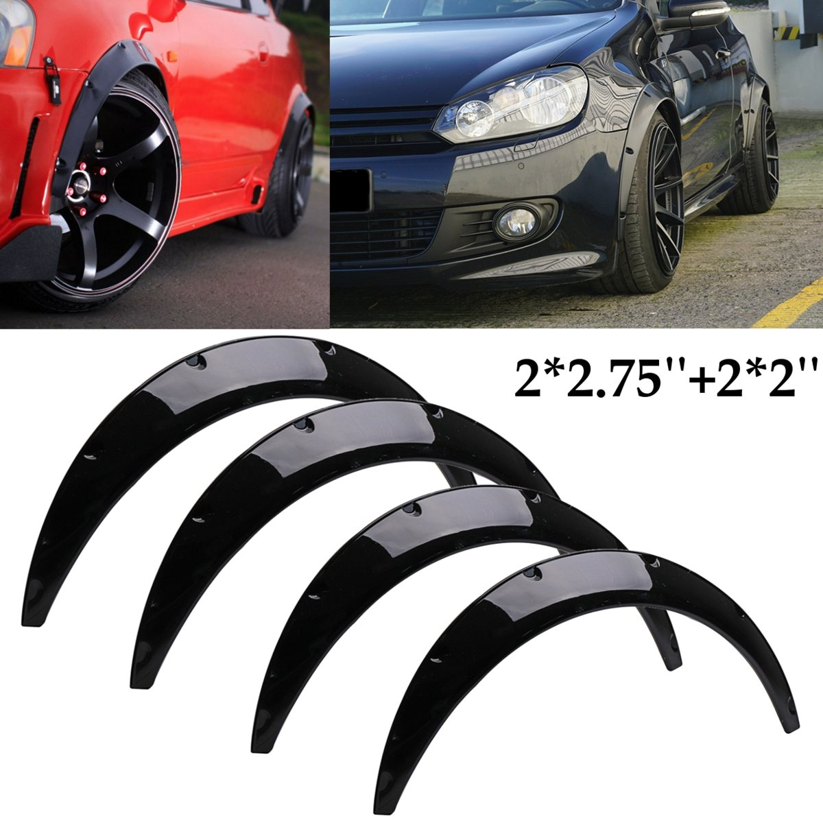 #BFD-UNIZG-PU Universal Flexible Car Body For Fender Flares Extension Wide Wheel Arches For Mazda/Nissan MX-5 Miata RX-7 350Z аксессуар bbb bfd 13f mtb protector белый