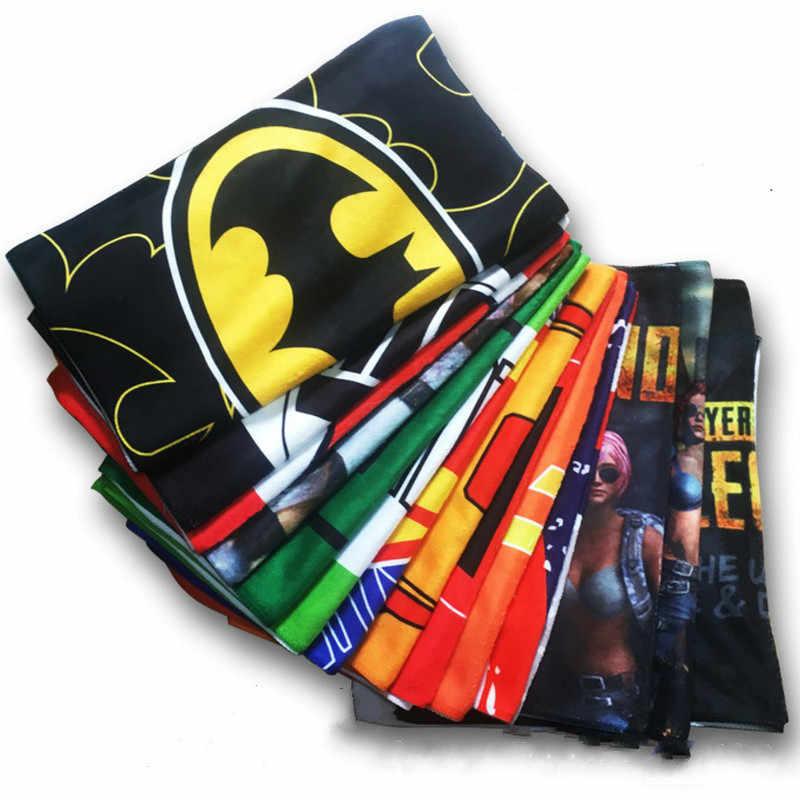 DC Jogo PUBG Filme de Super-heróis Os Vingadores Homem De Ferro Capitão América Batman Deadpool Trajes Cosplay Adereços Dom Toalha de Banho