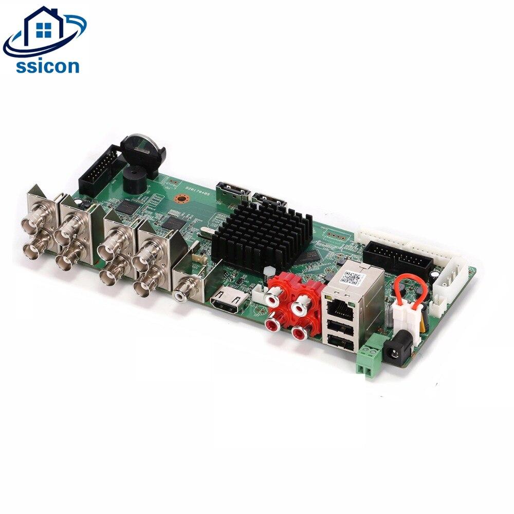 Carte enregistreur de caméra réseau analogique SSICON 8CH 4MP AHD CVI TVI CVBS 5 en 1 carte DVR NVR hybride avec câble Sata