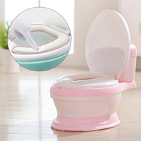 Baby Potty Toilet Training Seat Portable Plastic Child Potty Trainer Kids Indoor WC Baby Potty Chair Plastic Children's Pot