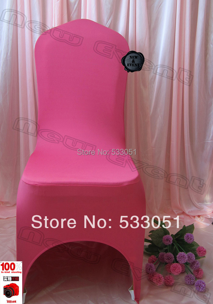 210g M2 Lycra Fabric Dark Coral Spandex Chair Cover