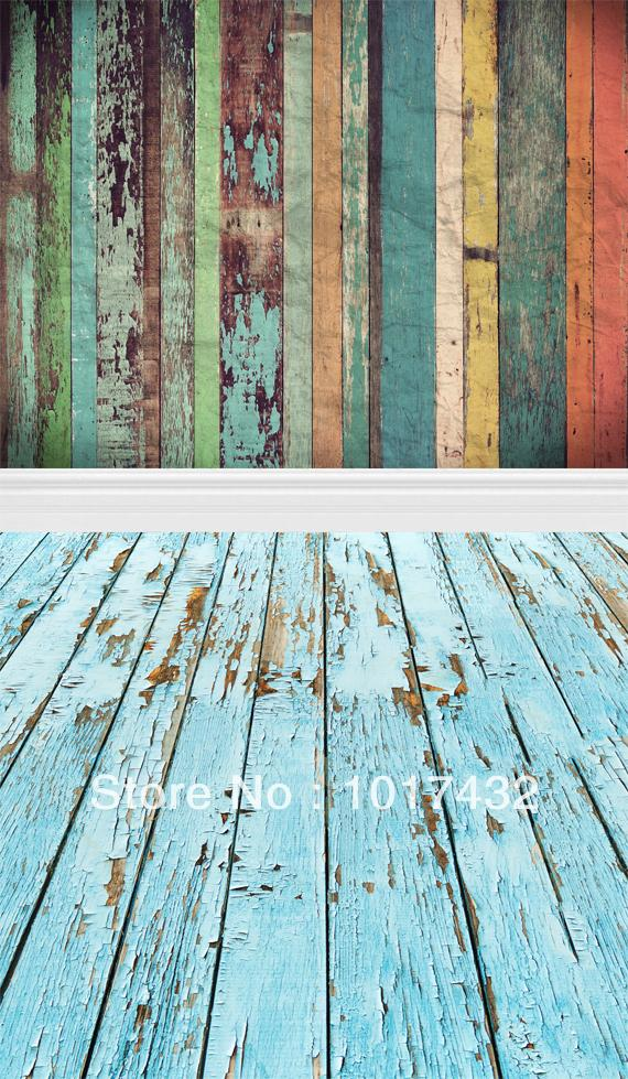 huayi multi colored peeling solid wood floor photo studio newborn background backdrop for indoor photography n 007 in background from consumer electronics - Colored Wood Flooring