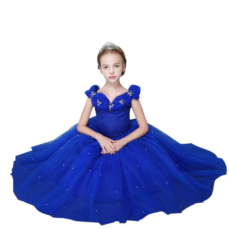 Princess Ball Gown Girls Birthday Dress Girls Party  Dress Girl Wedding Clothing Kids Birthday Christmas sleeveless 2-13 yearsPrincess Ball Gown Girls Birthday Dress Girls Party  Dress Girl Wedding Clothing Kids Birthday Christmas sleeveless 2-13 years