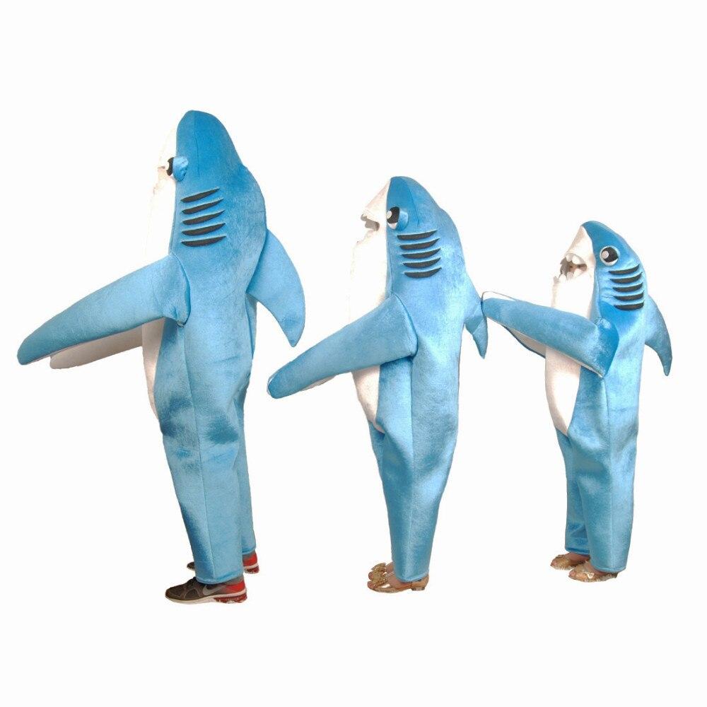 Детский костюм акулы, милый синий Забавный костюм акулы для костюмированной вечеринки, костюм животного, костюм на Хэллоуин для детей