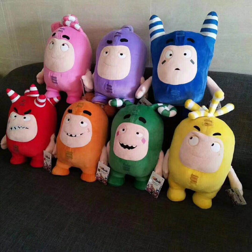 Doll Japanese Action-Figure Plush-Stuff Anime Oddbods Cartoon Jeff-Collection 33cm Toy