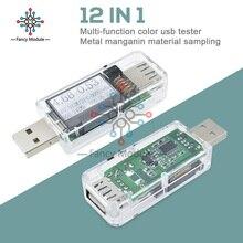 DC 4-30V LCD 12 In 1 USB Digital Voltmeter Tester Amperimete Voltage Current Met