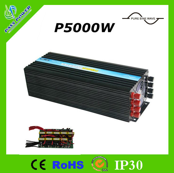 Factory Hot Sale!  pure sine wave off grid air conditioner inverter,  48V to 240V 5000w home use solar inverter,