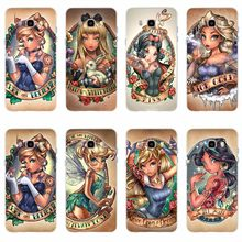Tattoos Prinses Beeld de TPU soft case voor Samsung Galaxy S6 S6edge S6Plus A7 S7edge S8 S9 J5 J7 2016 a3 A5 2017(China)