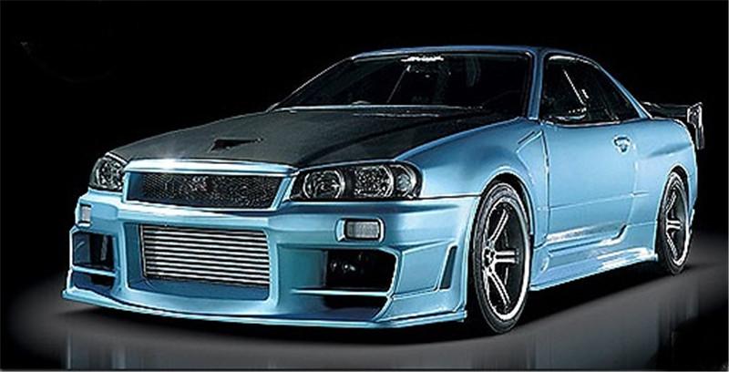 1999-2002 Nissan Skyline R34 GTR D0-Luck Style Front Fender FRP (11)