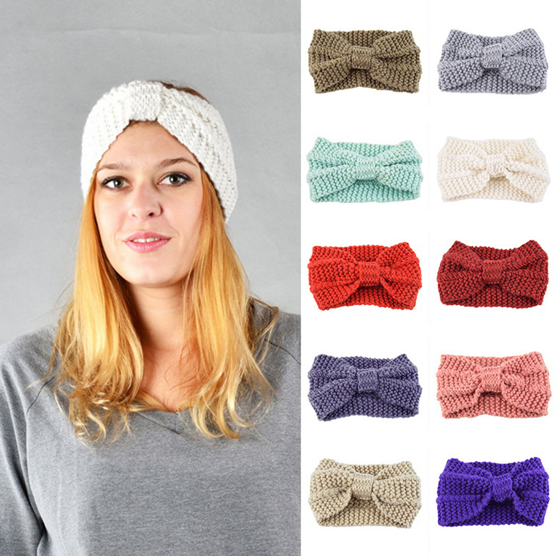 Litthing Women Winter Wool Hats Solid Color Ear Protect Cap 2019 Warm Knitted Gorras Skullies Beanies Hat Earflaps For Women