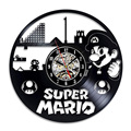 Супер Марио игра Виниловая пластинка настенные часы современный дизайн игровая комната 3D Подвесные часы настенные часы искусство домашний...