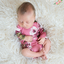 Newborn Props Soft Full Rompers Baby Boy Girls Floral Costume Infant Romper Outfit Photography Accessories