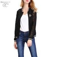 ElaCentelha Women Summer Autumn Tops Lace Cardigan Women Jacket Long Sleeves Plus Size Loose Elegant Ladies