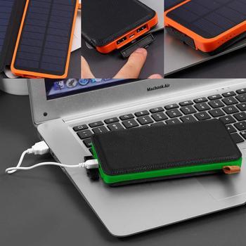Solar Charge 20000mAh Power Bank Fold Portable Powerbank Phone Charging Waterproof  For Xiaomi Iphone laptop