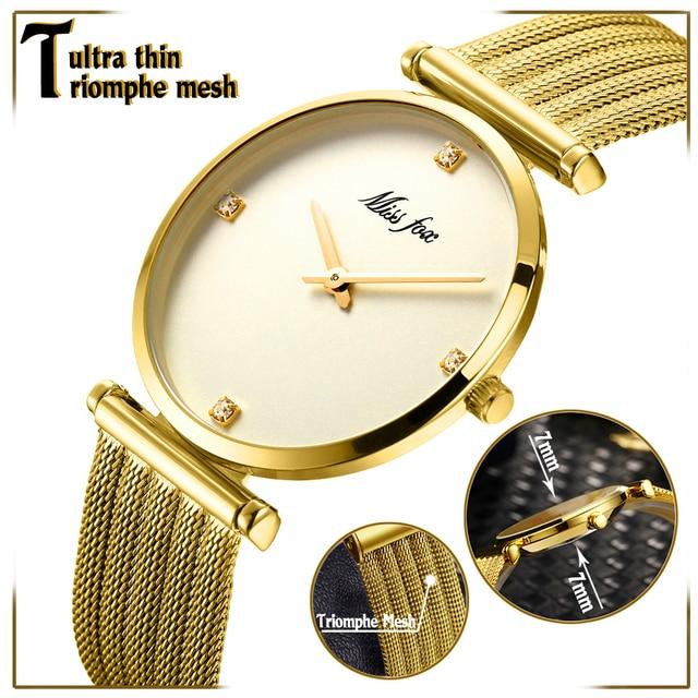 למעלה למכור את המוצר 2018 נירוסטה צמיד זהב יהלומי מתנות לנשים מינימליסטי מעצב מותג יוקרה נשים שעונים