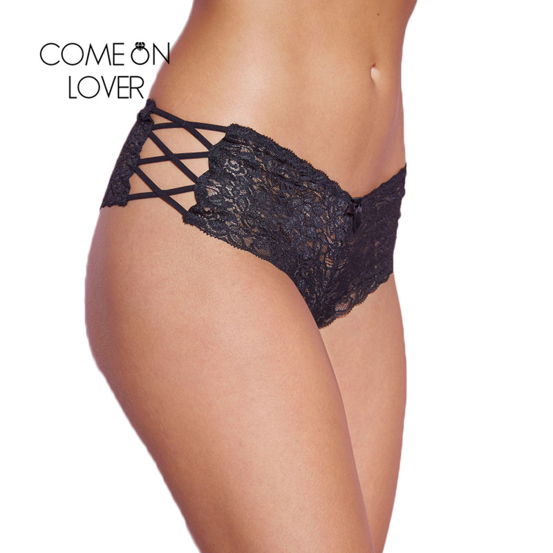 Comeonlover <font><b>Sexy</b></font> Panties Women Seamless Lace Underwear <font><b>Sous</b></font> <font><b>Vetement</b></font> <font><b>Femme</b></font> <font><b>Sexy</b></font> See Though Bandage Panties Women Thongs PI5124 image