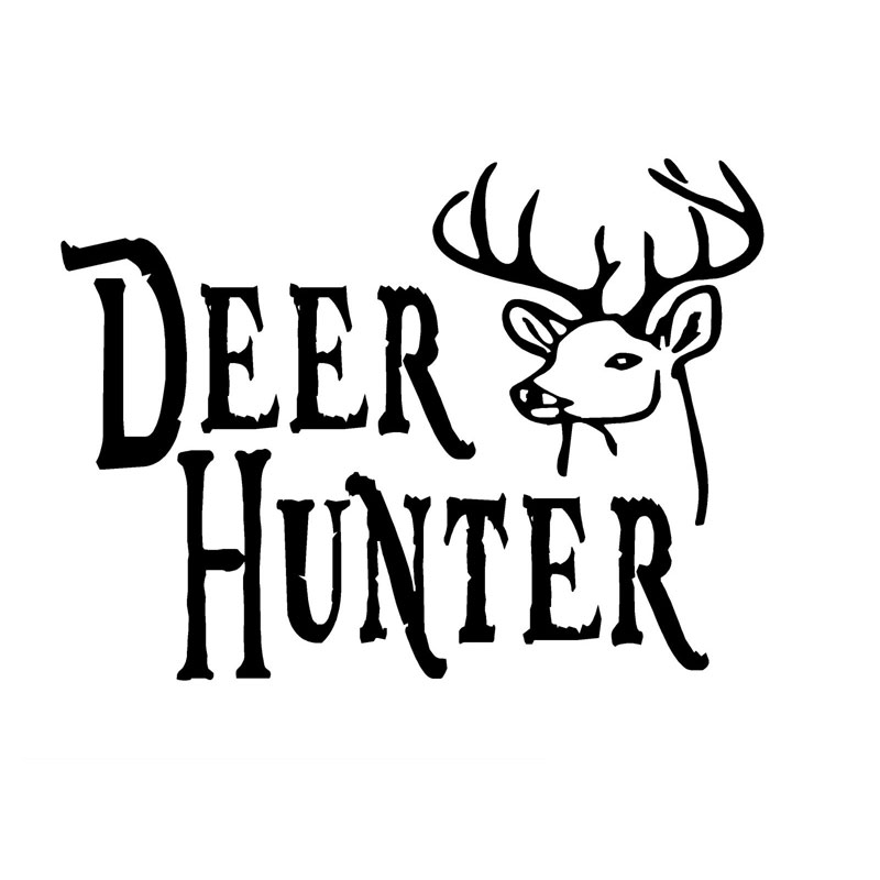 12.7CM*9.3CM Deer Hunter Decal Buck Head Hunting Car