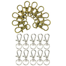 20pcs Swivel Trigger Snap Hooks Purse Landyard Clip Lobster Clasps D-Ring(China)