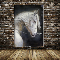 100% Handpainted Oil Painting Posters Running Horse Canvas Painting Wall Art Picture Canvas Wall Pictures for Living Room Decor