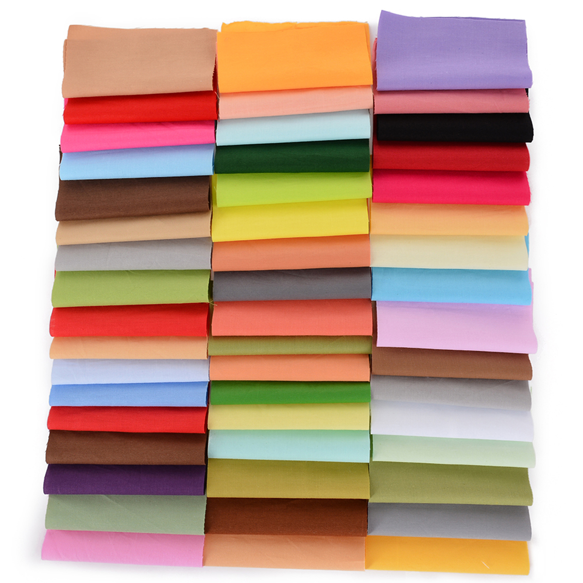 <font><b>50</b></font> Colors 10x10cm Squares Cotton Fabric Patchwork Sewing Quilting Tissues Cloth DIY Bundle For Sewing Dolls Crafts Random Color image