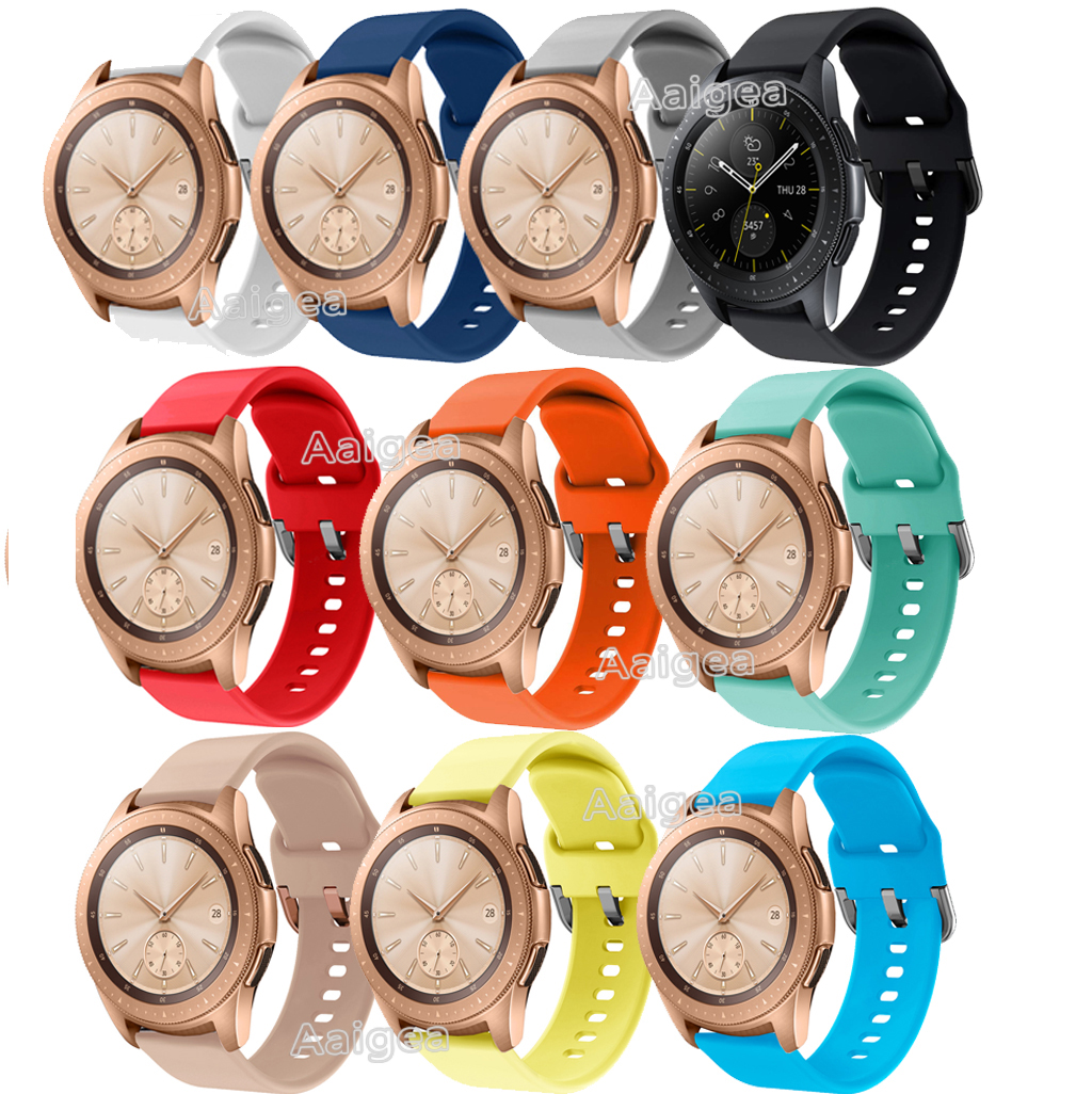 Colorful Soft Silicone Watch Strap Band For Samsung Galaxy Watch 42mm Replacement Sports Bracelet 20mm Wrist Band Strap Unisex