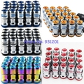 Neochrome/Blue/Red/Black/Gold M12xP1.5 / M12xP1.25 Racing Car Volk Wheel Concealed Heptagon Lug Nuts and Bolts