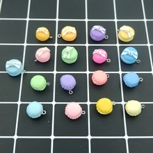 Kawaii Macaron Charms Pendants for DIY decoration bracelets necklace earring key chain Jewelry Making(China)