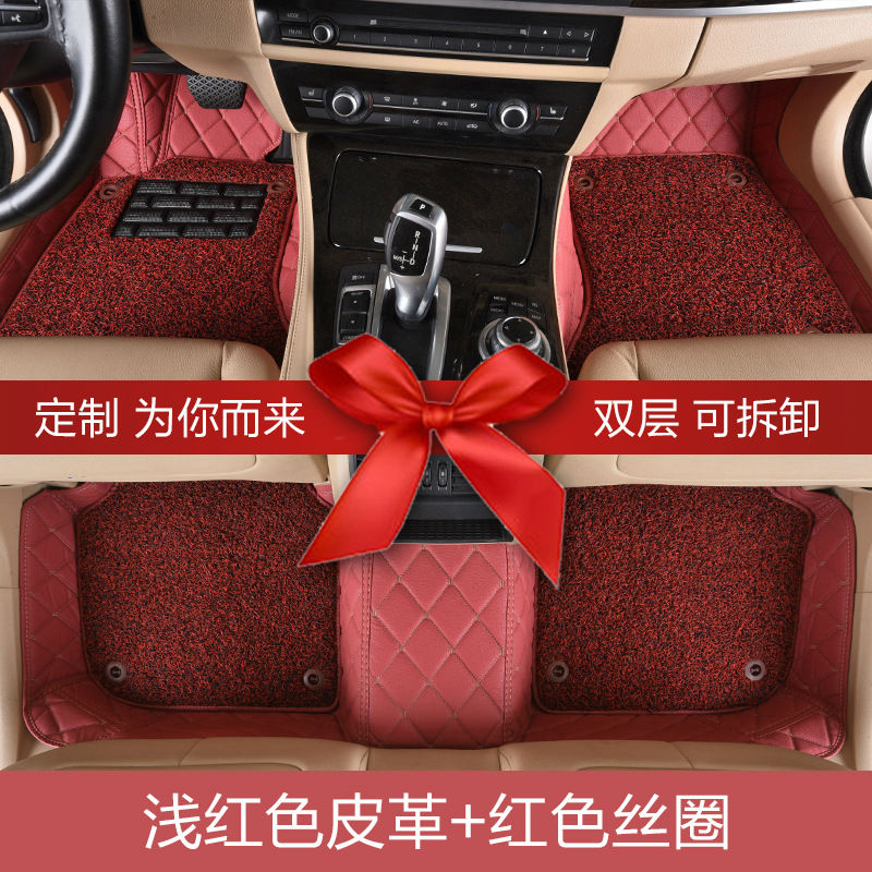 Myfmat car floor mat foot rugs set for Peugeot 301 2008 308 408 508 3008 RCZ 208 4008 308S Caddy Combi VR6 multivan Golf GTI CC