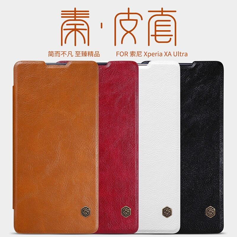 For Sony Xperia XA Ultra F3212 F3213 F3215 F3216 leather case Original Nillkin Qin Classic Pu