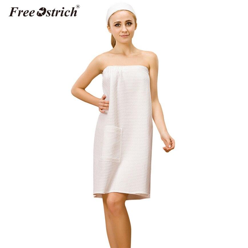 409cdc262f Detail Feedback Questions about Free Ostrich Modal Bath Towel Women Spa  Wrap Towel White Waffle Pocket Strapless Bath Dress+Hair Band Lady Elegant  Bath Set ...