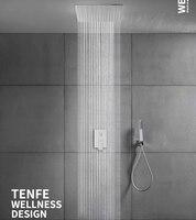 Ванная комната Душ скрытый душ 16 дюймов Топ спрей в стене предварительно встроенный Душ Набор душевой набор Бесплатная доставка