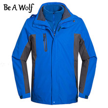 Будь Волк Охота Куртки Пальто Мужчины Женщины Открытый Кемпинг Рыбалка Походная одежда Дождь Лыжи Куртка Ветровка Зима с подогревом