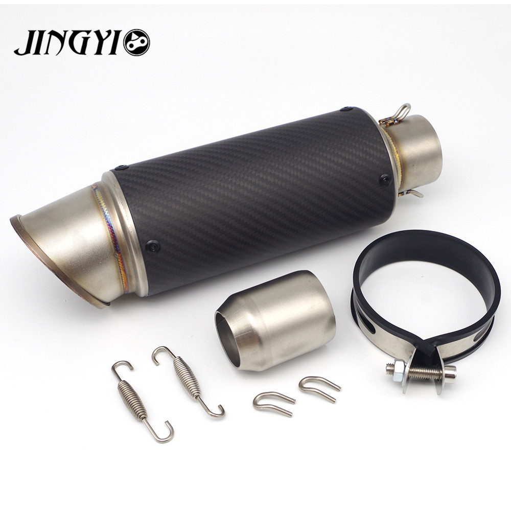 Universal Stainless Steel Motorcycle Exhaust Pipe loud silencieux moto escape Muffler FOR Yamaha MT09 MT-09 MT07 MT-07